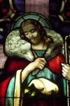 Graphic Christ as Shepherd