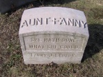 Graphic Fanny Crosby grave